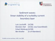 Sediment waves: linear stability of a turbidity current ... - csdms