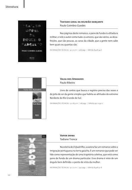 Artes e Ofícios Editora   Catálogo Obras Gerais,  2012 / 2013