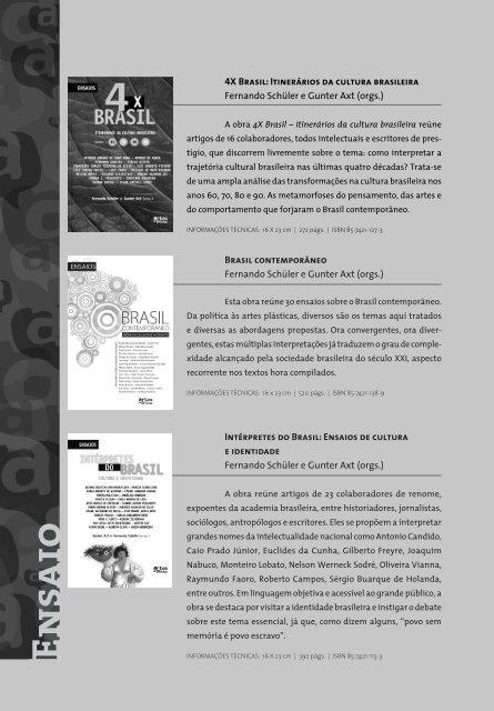 Artes e Ofícios Editora | Catálogo Obras Gerais,  2012 / 2013