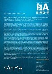 SIRO-A Presseinformationen