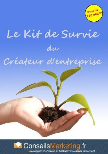 Le Kit de Survie du Créateur d'entreprise - ConseilsMarketing.fr