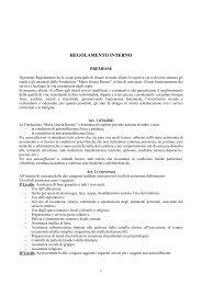 REGOLAMENTO INTERNO - Fondazione Maria Grazia Barone