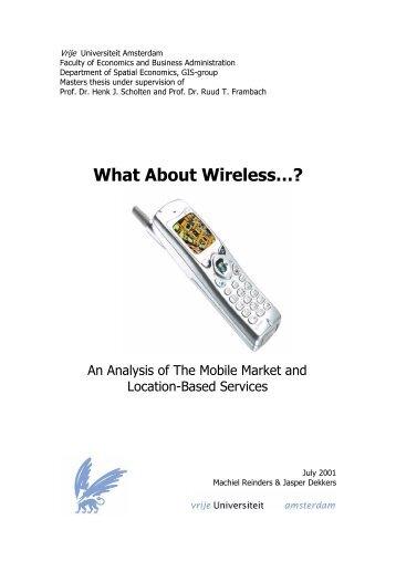 What About Wireless…? - Feweb - Vrije Universiteit Amsterdam