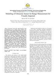 Modeling of Ultrasonic Sensor for Range Measurement for ... - IJETAE