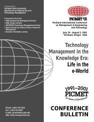 Conference Bulletin (pdf) - picmet