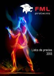 Lista de precios 2013 - Pirotecnia FML