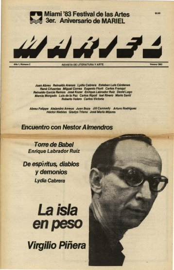 Virgilio Piñera - MARIEL, Revista de Literatura y Arte