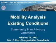 Mobilit Anal sis Mobility Analysis Existing ... - City of San Diego