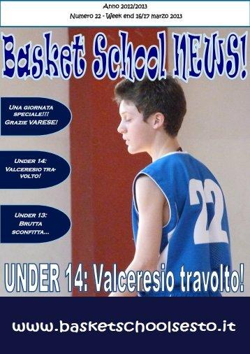 clicca qui per leggere il giornalino! - Basket School Sesto Calende