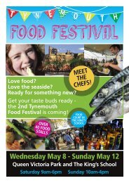 Download the Programme - Tynemouth Food Festival
