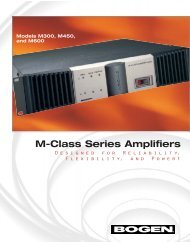 Bogen M300 M-Class Amplifier Brochure