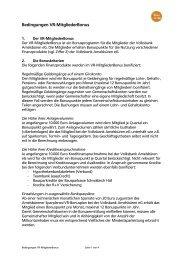 Bedingungen VR-MitgliederBonus - Volksbank Amelsbüren eG
