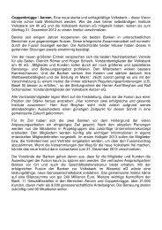 zur Mitgliederinformation - Volksbank am Ith eG