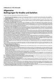 Allgemeine Bedingungen für Kredite und Darlehen - Volksbank eG ...