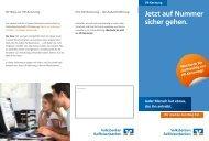 Flyer VR-Kennung - Volksbank Hellweg eG