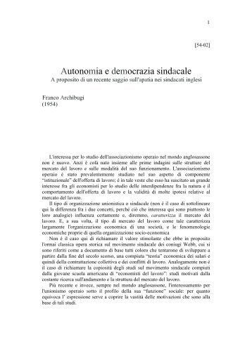 download .pdf - Prof. Franco Archibugi