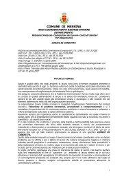 il codice di condotta per i dipendenti del comune - Comune di Messina