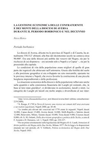 LA GESTIONE ECONOMICA DELLE CONFRATERNITE E DEI ...