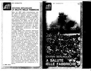 LA SALUTE NELLE FABBRICHE - unitadibase.altervista.org