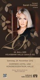 Sarah Connor - Volksbank Halle (Saale) eG