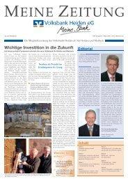 Ausgabe 03/2008 - Volksbank Heiden eG