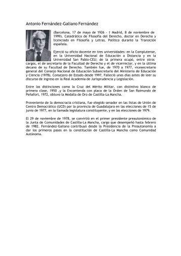 Antonio Fernández-Galiano Fernández - Portal de Castilla La Mancha
