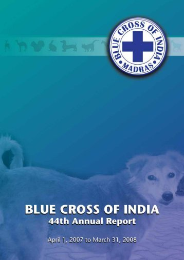 to view / download the Annnual Report - Blue Cross of India