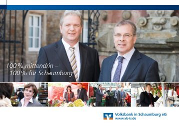 100 % für Schaumburg - Volksbank in Schaumburg eG