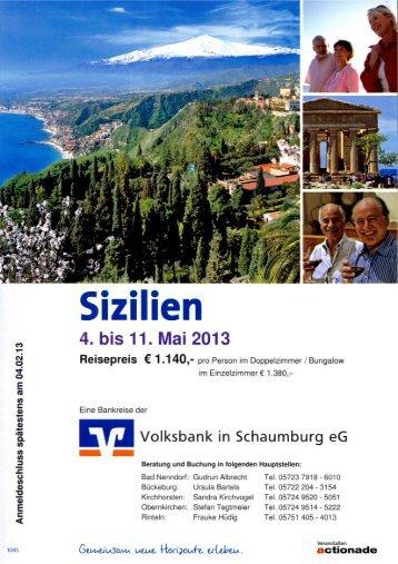 Sizilien (04.05. - 11.05.) - Volksbank in Schaumburg eG