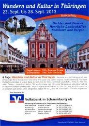 Thüringen - Volksbank in Schaumburg eG