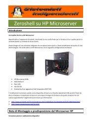 Zeroshell su HP Microserver - Paolo PAVAN