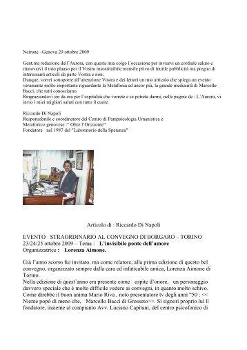 leggi articolo - Riccardo Di Napoli