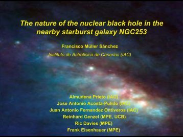 The nature of the nuclear black hole in the nearby starburst galaxy ...