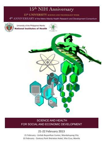 NIH 2013 Program - University of the Philippines Manila