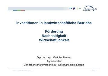 Investitionen in landwirtschaftliche Betriebe Förderung ...