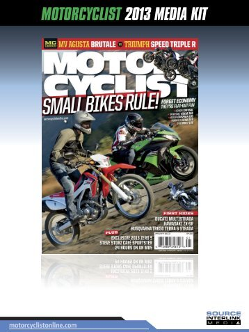 MOTORCYCLIST 2013 MEDIA KIT - source interlink media