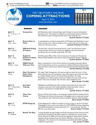 April 15 2013 Family and MWR Coming Attractions.pdf - Fort Drum ...