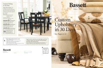 Bassett, Custom Upholstery, Design - Frederick Swanston