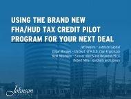 Using the Brand New HUD/FHA Tax Credit Pilot Program - Housing ...