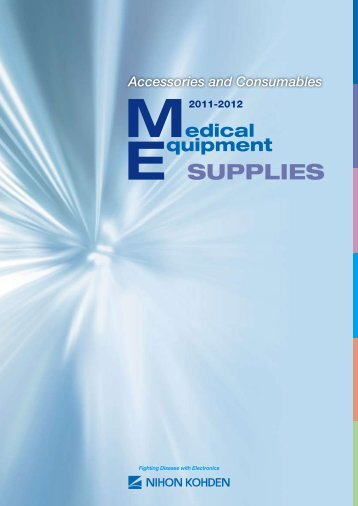 Accessories and consumables 2011 2012 - Nihon Kohden