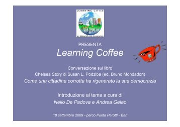 presentazione di Andrea GELAO - Learning Cities