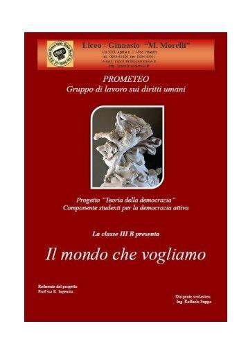 """""""Teoria della democrazia"""" Conferenza III B 2010/2011 - Liceomorelli.It"""