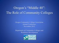 """Oregon's """"Middle 40"""" and The Role of Community Colleges"""