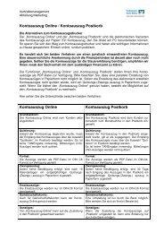 Anleitung Kontoauszug Online Postkorb 03.06.2011