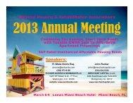 of bonds or - National Housing & Rehabilitation Association