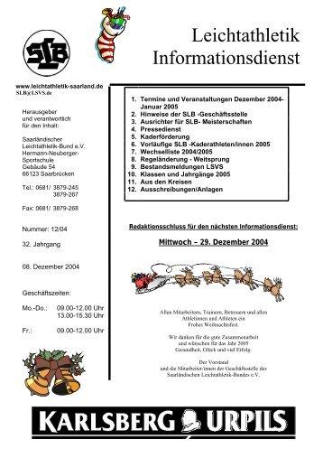 Leichtathletik Informationsdienst - Saarland
