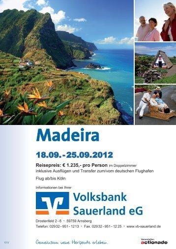 Madeira - Volksbank Sauerland eG