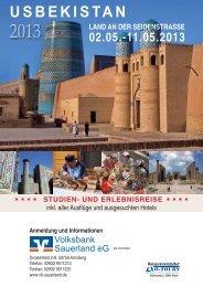 VSB Sauerland eG Usbekistan 2013 Internetversion.indd - Volksbank ...