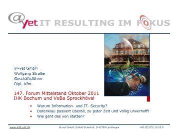 Live-Hacking Vortrag vom 11.10.10