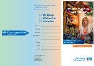 Übersicht Kontomodelle als pdf - Volksbank Tailfingen eG